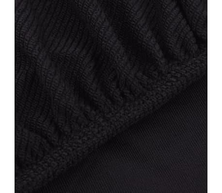 acheter vidaxl housse de chaise tirable 4 pcs polyester tissu c tel marron pas cher. Black Bedroom Furniture Sets. Home Design Ideas