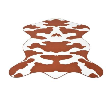 vidaXL paklājs, 70x110 cm, brūns govs ādas raksts