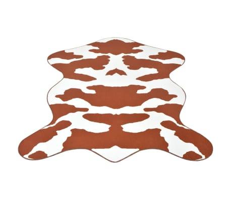 vidaXL Kilimas 150x220cm, rudos karvės raštas