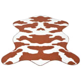 vidaXL Shaped Rug 150x220 cm Brown Cow Print