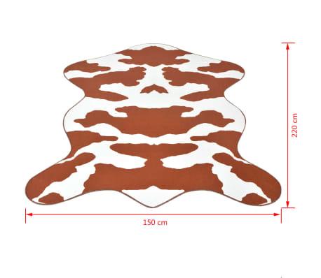vidaXL Kilimas 150x220cm, rudos karvės raštas[3/3]