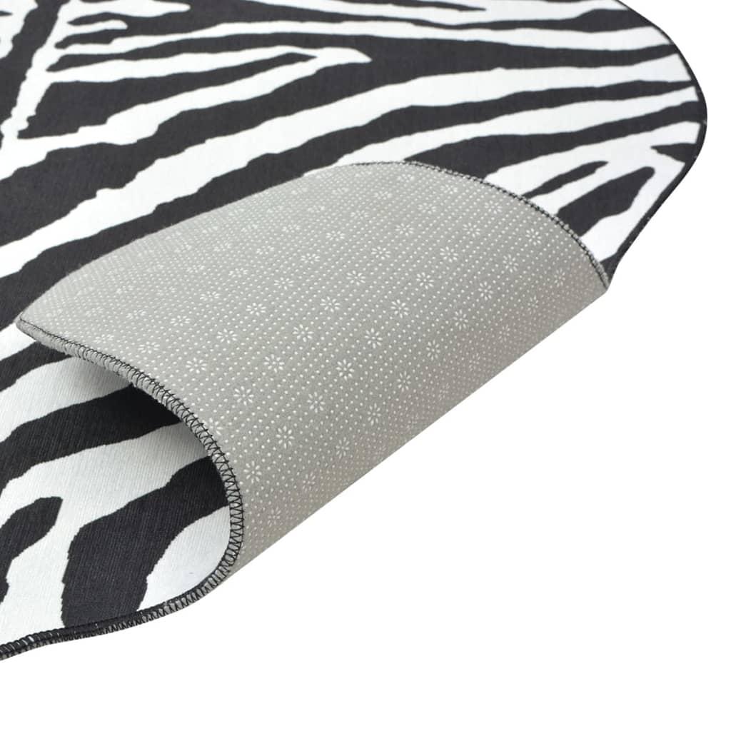 vidaXL Tvarovaná rohož 150x220 cm potisk zebra