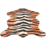 vidaXL Formad matta 110x150 cm tigermönster