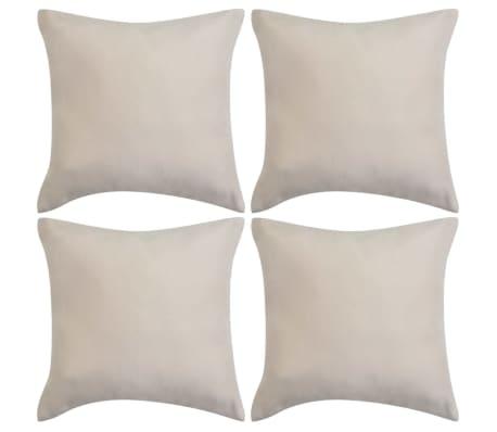 vidaXL Cushion Covers 4 pcs 50x50 cm Polyester Faux Suede Beige