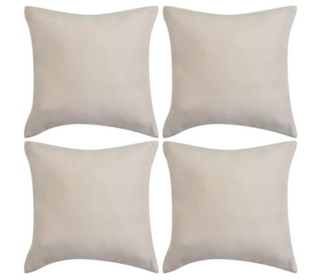 vidaxl kissenbez ge 4 stk 80x80 cm polyester wildleder optik beige g nstig kaufen. Black Bedroom Furniture Sets. Home Design Ideas