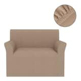 vidaXL Elastyczny pokrowiec na sofę, pikowany, beżowy