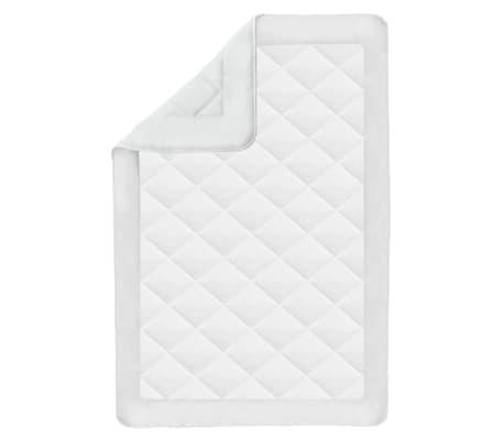 acheter vidaxl couette courtepointe d 39 t 155 x 220 cm blanc pas cher. Black Bedroom Furniture Sets. Home Design Ideas