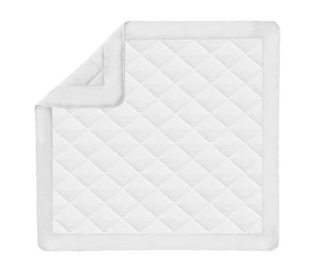 acheter vidaxl couette courtepointe d 39 t 200 x 200 cm blanc pas cher. Black Bedroom Furniture Sets. Home Design Ideas