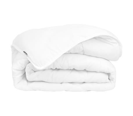 acheter vidaxl couette dredon d 39 hiver toutes saisons 155 x 220 cm blanc pas cher. Black Bedroom Furniture Sets. Home Design Ideas