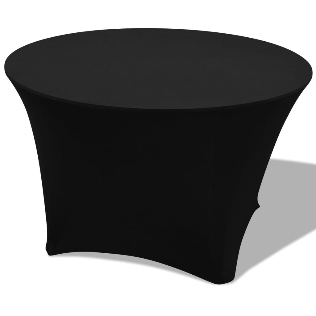 vidaXL Strečové návleky na stůl 2 ks kulaté 150x74 cm černá