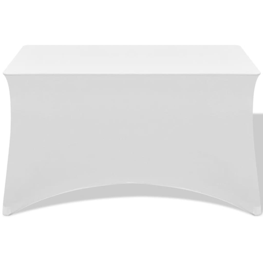 vidaXL Strečový návlek na stůl 2 ks 120x60,5x74 cm bílý