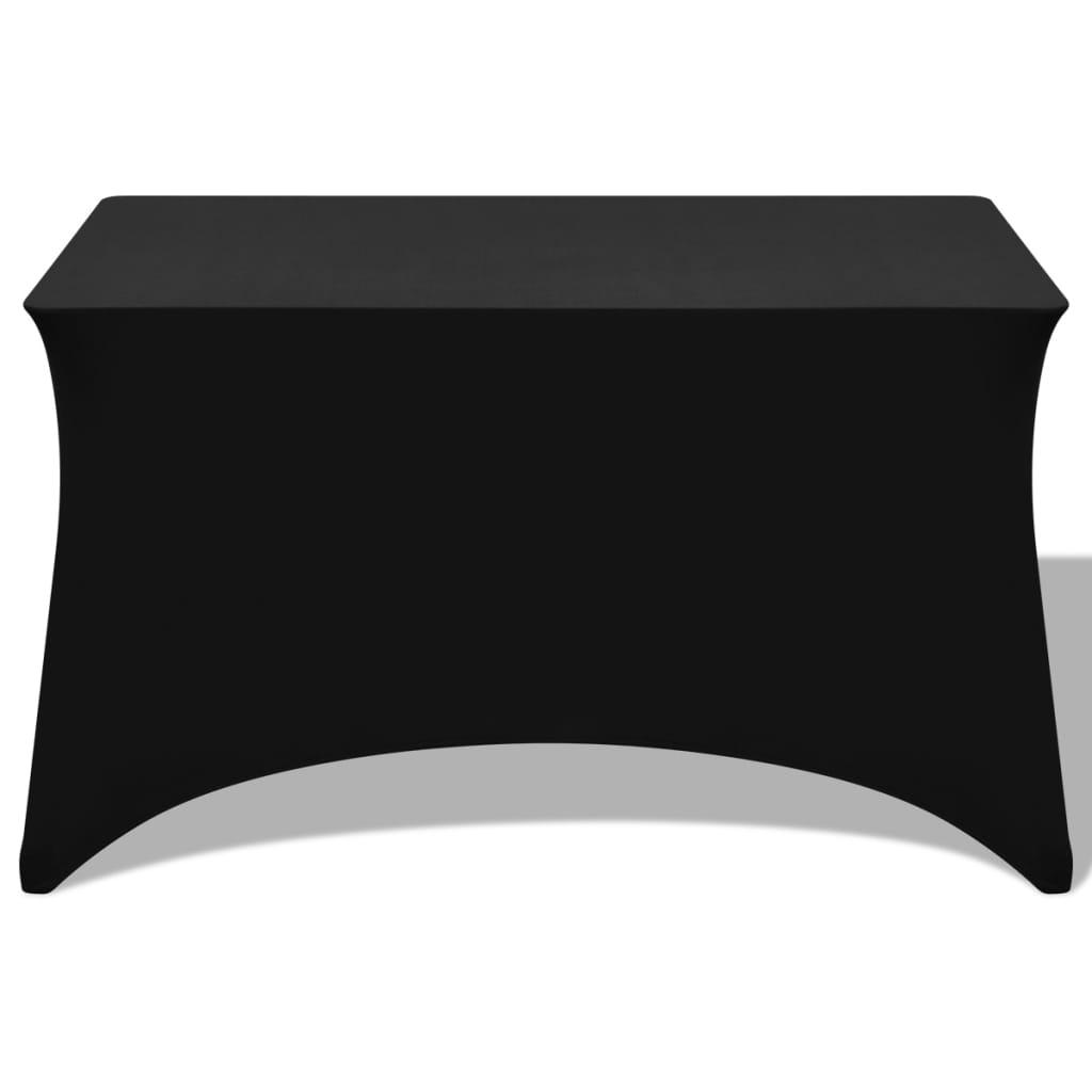 vidaXL Strečový návlek na stůl 2 ks 120x60,5x74 cm černý