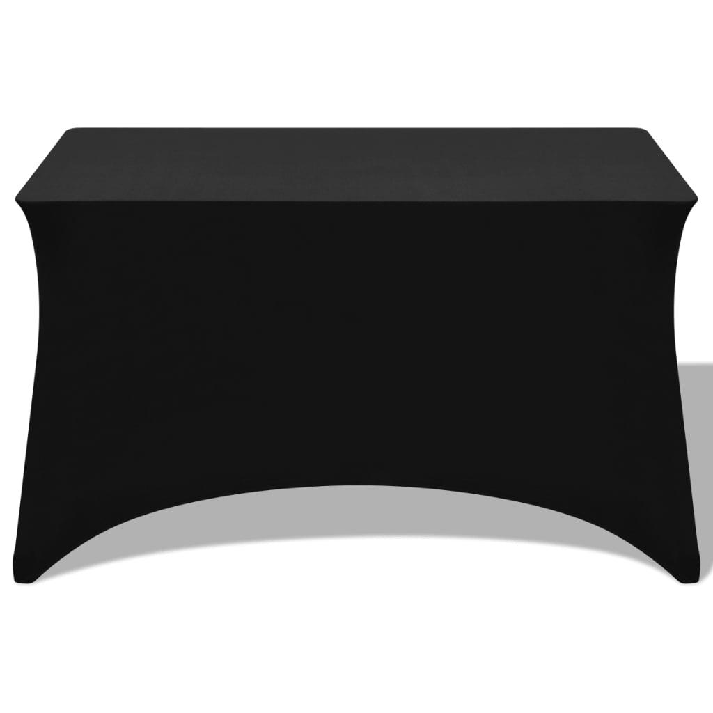vidaXL Strečový návlek na stůl 2 ks 243x76x74 cm černá