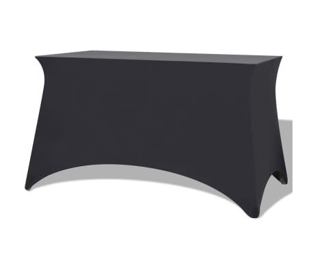 vidaXL Elastyczny pokrowiec na stół 120x60,5x74 cm, 2 szt., antracytowy (szary)