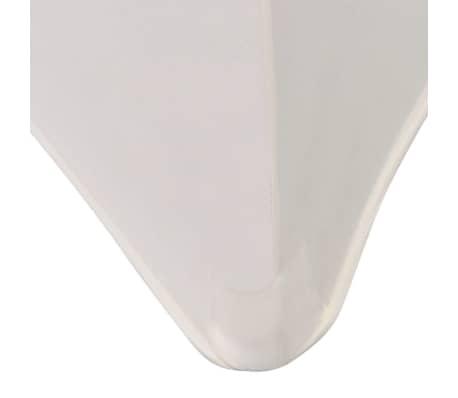 vidaXL Housse extensible pour table 2 pcs 243 x 76 x 74 cm Crème[4/5]