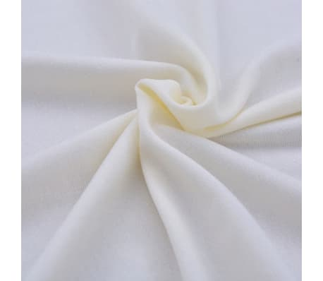 vidaXL Housse extensible pour table 2 pcs 243 x 76 x 74 cm Crème[5/5]