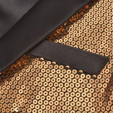 vidaXL Vyriškas švarkas su blizgučiais Tuxedo, aukso spalva, dydis 48[2/5]