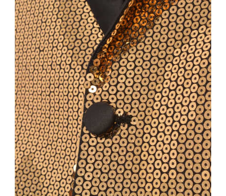 67d697d146 Olcsó vidaXL férfi szmoking arany flitteres blézer 56-os méret ...