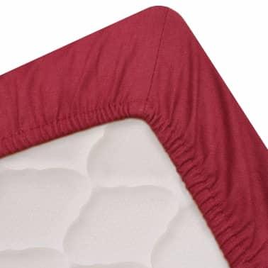 vidaxl spannbettlaken 2 st ck 160x200 cm baumwolle burgunderrot g nstig kaufen. Black Bedroom Furniture Sets. Home Design Ideas