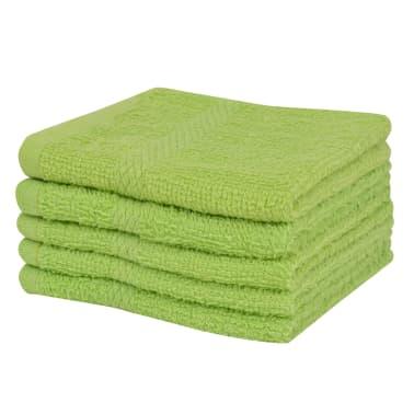 vidaxl serviette pour invit s 10 pcs 100 coton 360 g m 30x30 cm vert. Black Bedroom Furniture Sets. Home Design Ideas