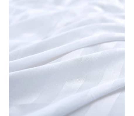 acheter vidaxl jeu housse de couette 2 pcs satin coton blanc 140x200 60x70 cm pas cher. Black Bedroom Furniture Sets. Home Design Ideas