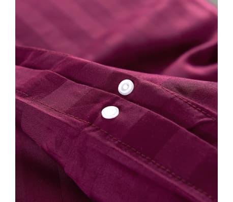 acheter vidaxl housse de couette 3 pcs satin coton bordeaux 240x220 80x80 cm pas cher. Black Bedroom Furniture Sets. Home Design Ideas