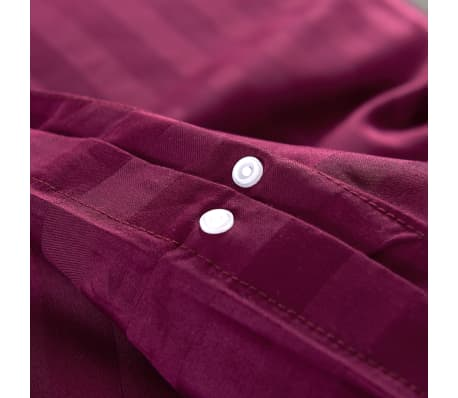 acheter vidaxl housse de couette 3 pcs satin coton bordeaux 200x220 60x70 cm pas cher. Black Bedroom Furniture Sets. Home Design Ideas