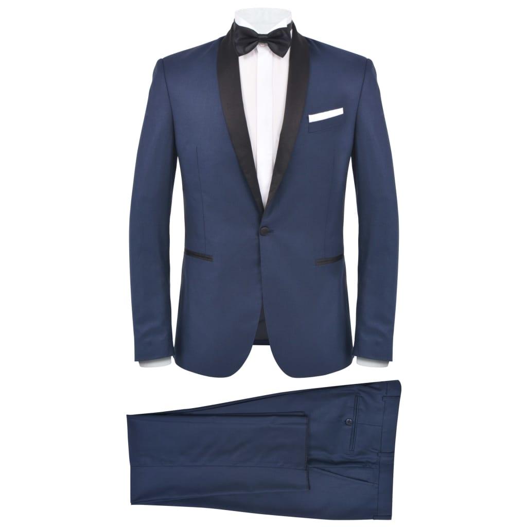 vidaXL Pánský dvoudílný večerní oblek/smoking vel.46, námořnická modrá