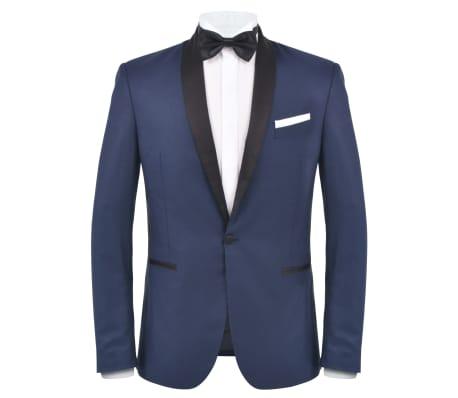 vidaXL Smoching/Costum seară bărbătesc, 2 piese, mărimea 46, bleumarin[2/10]