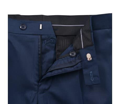 vidaXL Smoching/Costum seară bărbătesc, 2 piese, mărimea 46, bleumarin[5/10]