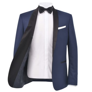 vidaXL Smoching/Costum seară bărbătesc, 2 piese, mărimea 46, bleumarin[3/10]