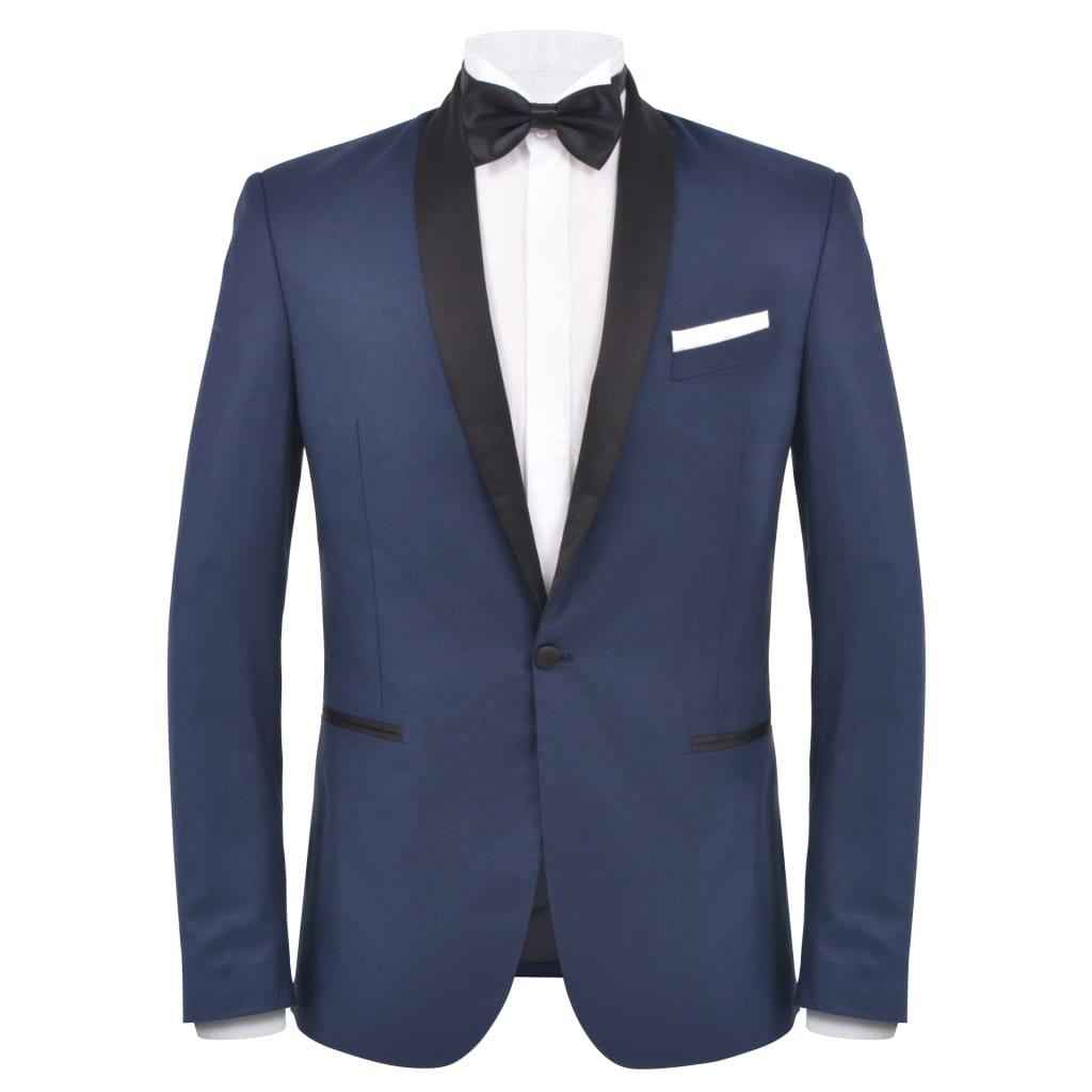 vidaXL Pánský dvoudílný večerní oblek/smoking vel.50, námořnická modrá