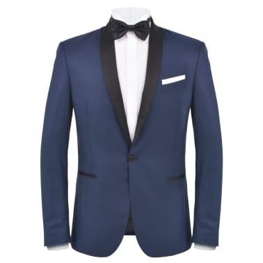 vidaXL Frac/Costum de seară bărbătesc, 2 piese, mărime 50 bleumarin[2/10]