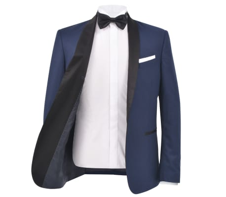 vidaXL Frac/Costum de seară bărbătesc, 2 piese, mărime 54 bleumarin[3/10]