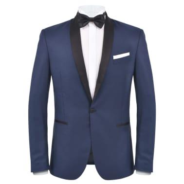 vidaXL Frac/Costum de seară bărbătesc, 2 piese, mărime 54 bleumarin[2/10]