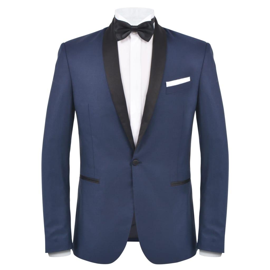 vidaXL Pánský dvoudílný večerní oblek/smoking vel.56, námořnická modrá