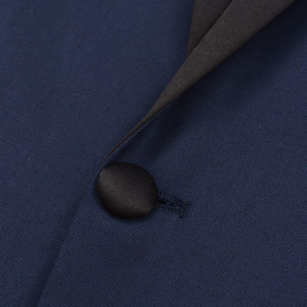 vidaXL Tweedelig kostuum/smoking voor mannen marineblauw maat 56