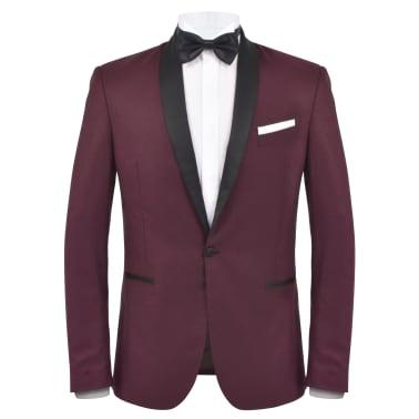 vidaXL Smoking/Costum de seară bărbătesc 2 piese mărime 46 vișiniu[2/10]