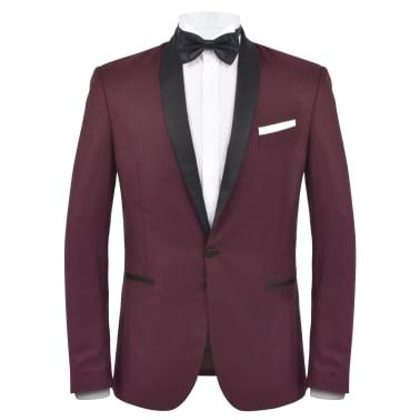 vidaXL Frac/Costum de seară bărbătesc, 2 piese, mărime 52, burgundy[2/10]