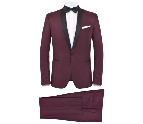 vidaXL Smoking/Costum de seară bărbătesc 2 piese mărime 54 burgundy