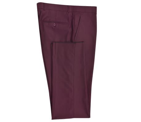 vidaXL Smoking/Costum de seară bărbătesc 2 piese mărime 54 burgundy[4/10]