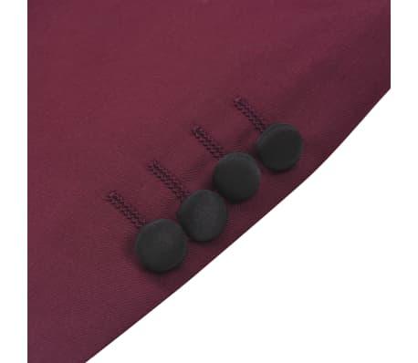vidaXL Smoking/Costum de seară bărbătesc 2 piese mărime 54 burgundy[9/10]