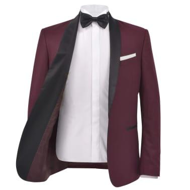 vidaXL Smoking/Costum de seară bărbătesc 2 piese mărime 54 burgundy[3/10]