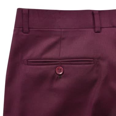 vidaXL Smoking/Costum de seară bărbătesc 2 piese mărime 54 burgundy[5/10]