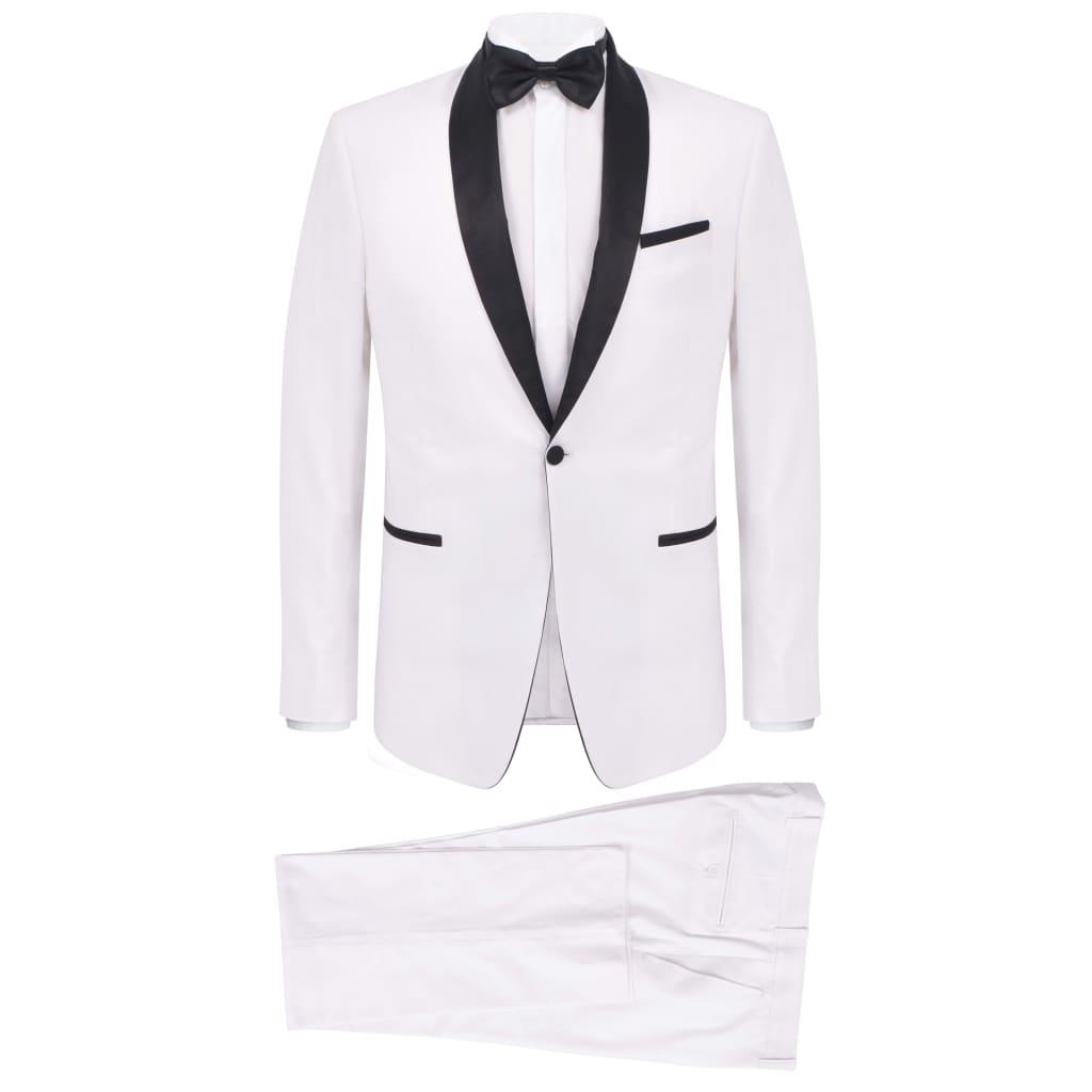 vidaXL Frac/Costum de seară bărbătesc, 2 piese, mărime 50, alb vidaxl.ro