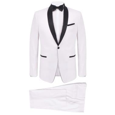 vidaXL Frac/Costum de seară bărbătesc, 2 piese, mărime 50, alb[1/10]
