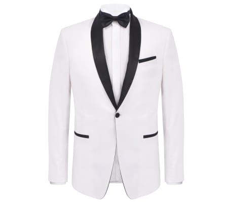 vidaXL Frac/Costum de seară bărbătesc, 2 piese, mărime 50, alb[2/10]