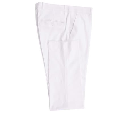 vidaXL Frac/Costum de seară bărbătesc, 2 piese, mărime 50, alb[4/10]