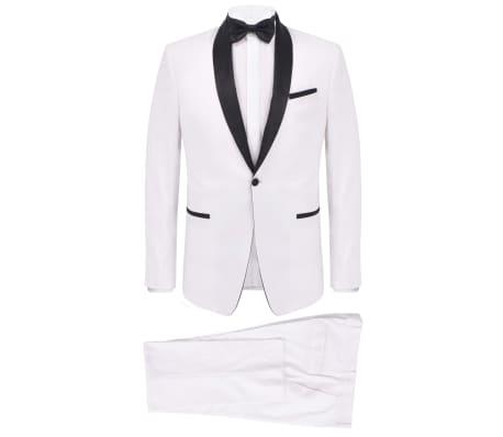 vidaXL Frac/Costum de seară bărbătesc, 2 piese, mărime 54 alb