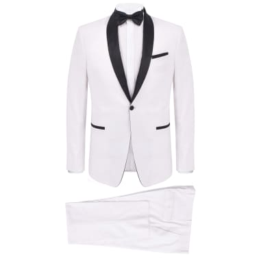 vidaXL Frac/Costum de seară bărbătesc, 2 piese, mărime 54 alb[1/10]